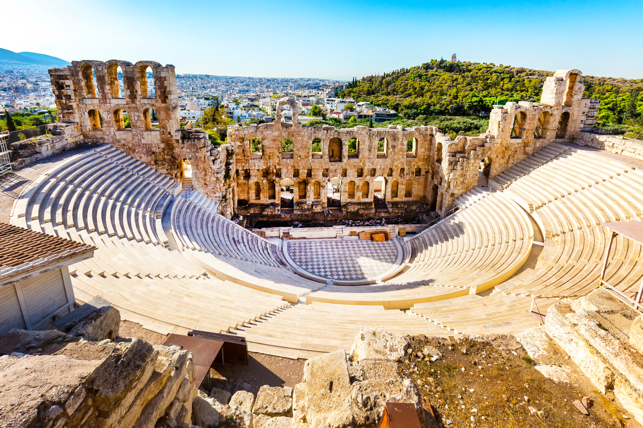 Amphitheater of Acropolis in Athens, Greece