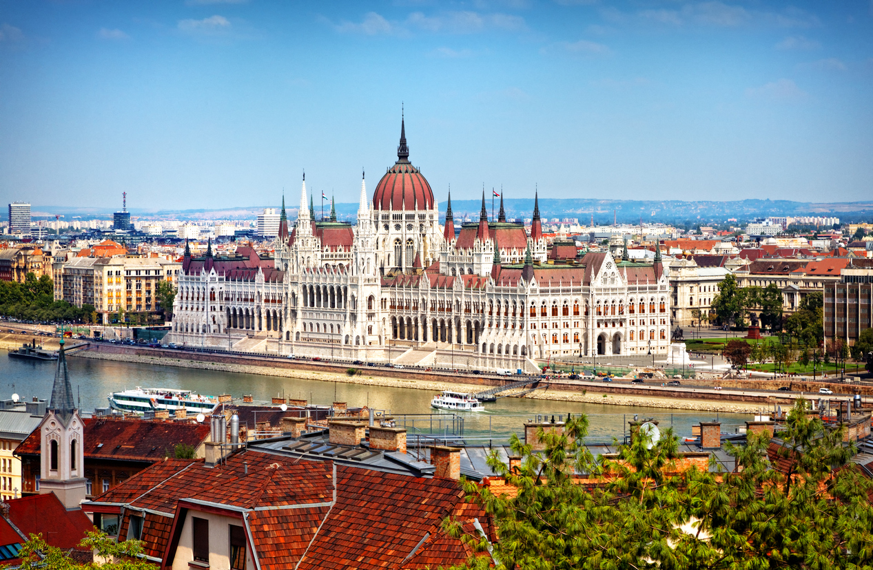 Hungarian Parliament Building - day view from the Castle Hill