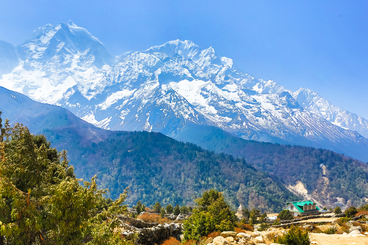 Trekking to Everest Base Camp in Nepal.