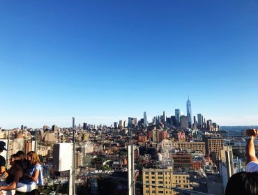 View of NYC from The Standard Hotel Rooftop