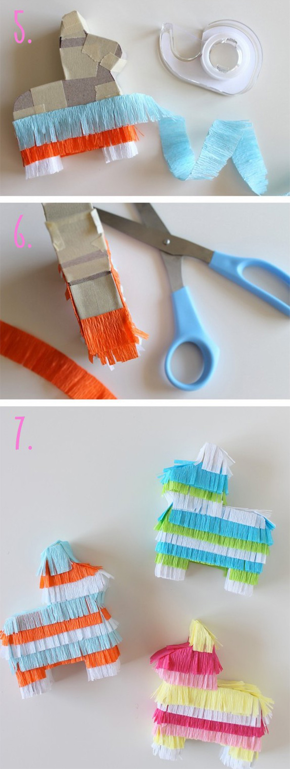 Courtesy of Evite - DIY Pinata Place Cards Tutorial